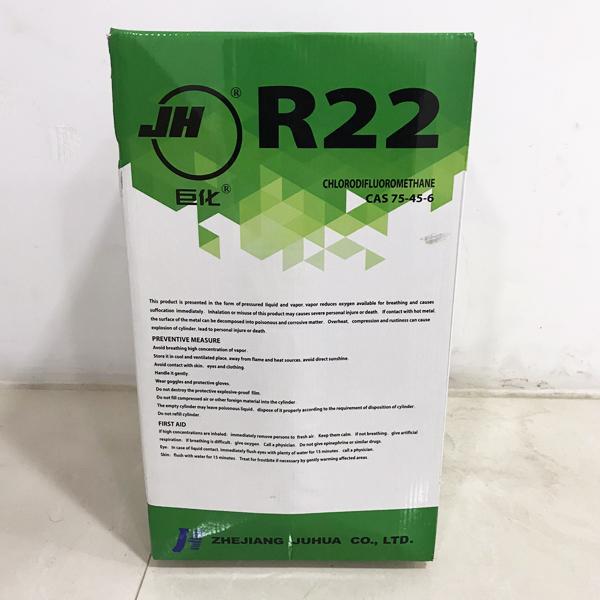 น้ำยาแอร์ R22 ยี่ห้อ JH ขนาด 13.6 กิโลกรัม รุ่น UN1018 พร้อมถังเติม