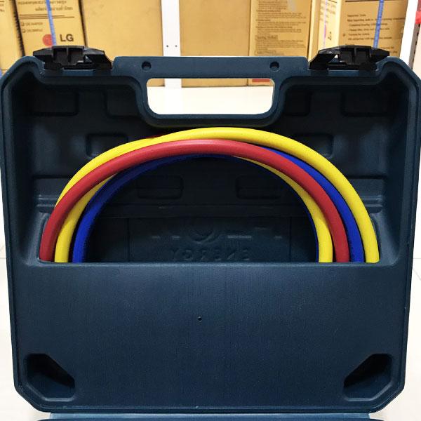 เกจ์วัดน้ำยาแอร์ FLOW Energy แถมสายยาว 60″ ระบบเกจคู่ มี Adapter แปลงหัว 1/4 ให้ภายใน