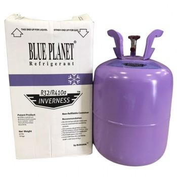 น้ำยาแอร์ R32 / R410A ยี่ห้อ Blue Planet ขนาด 10 กิโลกรัม พร้อมถังสีม่วง
