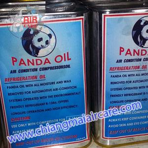 น้ำมันคอมเพรสเซอร์แอร์ ยี่ห้อ Panda แบบ R134a